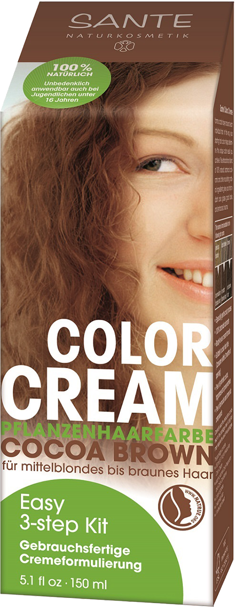 Color Cream Cocoa Brown Sante Natural Cosmetics