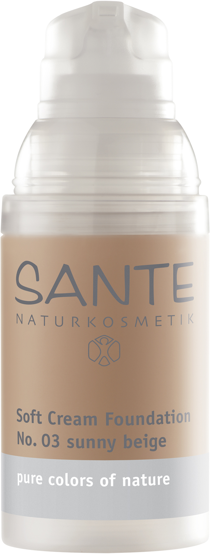 03 >> Soft Cream Foundation Sunny Beige No 03 Sante Natural Cosmetics